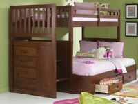 Staircase Bunk Bed in Twin over Full