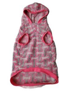 Top Paw Pink Bone Fleece Large Dog Jacket With Hood