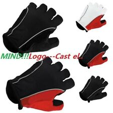 UK Caste..i Gloves Fingerless Half Finger Cycle Mitts Silicone/GLE