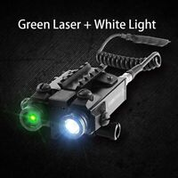 Tactical LED Light Combo Green Laser 5mw Shockproof Light Gear With Tail Switch