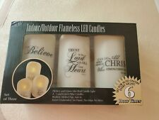 Indoor Outdoor Flamless LED Candles (Set of 3)