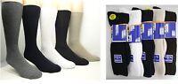3,6,12 Pairs Mens Gentle Grip non Elastic Diabetic Soft top Fashion Socks 6-11