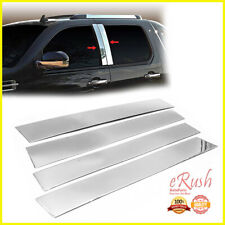 Chrome Stainless Steel Pillar Posts For 2007-2014 Cadillac Escalade 4Pcs Set (Fits: Cadillac)