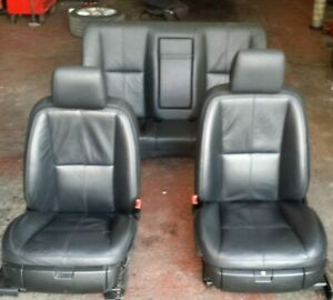 2006 - 09 MERCEDES S CLASS W221 FRONT & REAR INTERIOR SEATS BLACK LEATHER