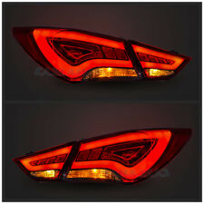 LED Red | Clear KDM Look Tail Lights For Hyundai Sonata | YF 2011-2014 Assembly