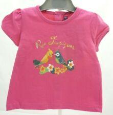 SERGENT MAJOR tee-shirt à manche courte fuschia perruches tropiques bébé 3 mois