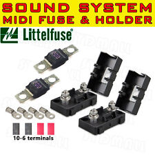 200A MIDI BOLT FUSES HOLDERS TERMINALS KITS FOR DUAL BATTERY MEGA SOUND SYSTEM