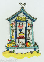 Sew Dinky Beach Hut - Bothy Threads XSD4 - Kit Embroidery to the counted