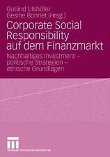 Corporate Social Responsibility Auf Dem Finanzmarkt: Nachhaltiges Investment ...