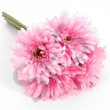 bunch of Pink short 6 stem gerbera wedding decoration