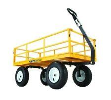 gorilla carts utility cart lbs heavy duty steel garden wagon yard lawn