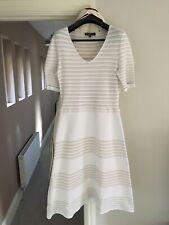 BNWT Salvatore Ferragamo White/Gold Knit Dress Size XL