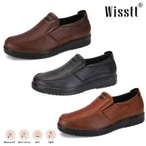 Men's Leather Driving Loafers Slip on Smart Low Heel Office Outdoor Dress Shoes