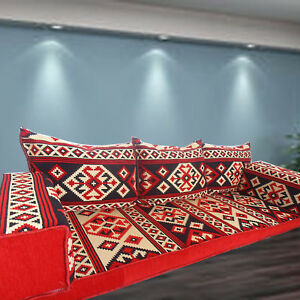 ARABIC Majlis Seating | FLOOR Sofa Set + PREMIUM Quality Foam Filling! UK Stock!