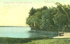 Amesbury,MA. Fishing at the Dam,Lake Attitash 1907