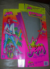 KIMBER OF THE HOLOGRAMS  JEM TRULY OUTRAGEOUS  BOX ONLY  HASBRO  1985