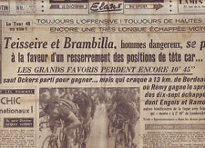 journal  l'équipe  du 05/07/48 CYCLISME TOUR DE FRANCE 1948 REMY OCKERS
