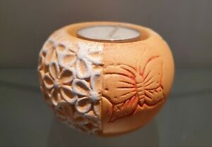 Tealight Holder Lantern Orange Ceramic Butterfly Tealight Decor Spring