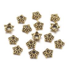 100 Star Bead Caps Antiqued Gold BULK Findings Filigree 5.5mm Wholesale