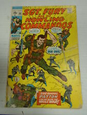 Marvel SGT. FURY AND HIS HOWLING COMMANDOS #88 (1971) Save General Patton, Ayers