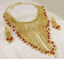 Bollywood Collier Plaqué Or Set Femmes Traditionnel Ethniques Fête Bijoux