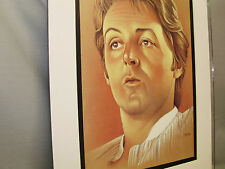 Paul McCartney Famous Entertainer artist illustrated caricature drawing color