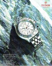 PUBLICITE ADVERTISING 056  2003  Tudor  la montre chronographe chronomatic
