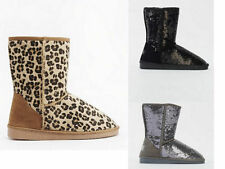 Fur Suede Pull On Boots for Women