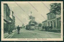 Ancona Falconara Stazione Tram cartolina QQ1152