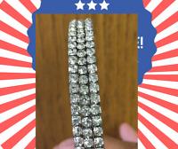 Fashion Crystal Rhinestone Stretch Bracelet Bangle Wristband Wedding Bridal.