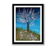 Spring tree -Impressionist art Acrylic painting unique gift (Print) ID : 1567