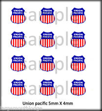 NEW PEEL & STICK RSP BOLEY 1/87 HO SCALE VEHICLE DOOR DECALS UNION PACIFIC RR