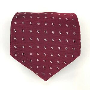 BROOKS BROTHERS Makers Tie Red White Paisley Elegant Silk Necktie England Woven