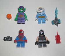 Lego ® Lot x4 Minifig Figurine Mighty Super Heroes Bane + Spider Man + Bouffon..