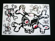Calavera Skull pegatinas, Set, 6 PCs. Decals, auto, Bike, snowboard, casco, Crossbones