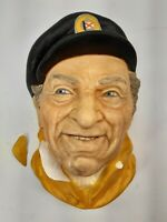 Vintage - Chalkware Bust - Made in England - Bosson ? - Boat Captain Skipper
