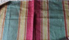 Antique French Heavy Woven 18thC Ombré Stripe Home Dec Silk Fabric C1760-1770