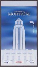 BOOKLET BK273b, 1977,  UNIVERSITE DE MONTREAL, OPEN TYPE, UPC 026072, PANE OF 8