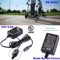 QILI 24V 0.6A Battery Charger for Razor Scooter MX350 Dirt Bike Rocket Quad Mod
