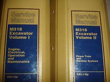 CATerpillar M318 Excavator SERVICE MANUAL Shop Repair Overhaul Factory 2 VOL Set
