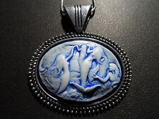 CAMEO HAND PAINTED NAUTICAL MERMAID NECKLACE