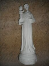 SAINT ANTOINE ET ENFANT JESUS/ANCIENNE STATUE RELIGIEUSE/PORCELAINE/H.36 cm/XXém