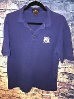 Antigua Vintage Blue Tampa Bay Lightning Hockey Polo Shirt Size M🔥⚡️RareOnly1🔥