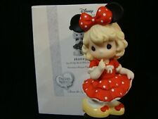 Precious Moments-Disney Collection-Girl In Minnie Mouse Dress/Bow And Mouse Ears