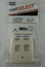 Qty.15 Hubbell Snap fit Plate Nsp14La Light Almond 1gang 4 Port