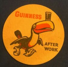 VINTAGE BEER MAT COASTER - TWO SIDED - GUINNESS PELICAN  (FF39)