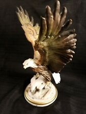 Giuseppe Armani Capodimonte Golden Eagle Figurine Signed