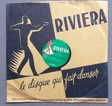 ►VINYLE 78 T. - RIVIERA - 1718 - EDDIE  BARCLAY - JOHNNY GUITAR