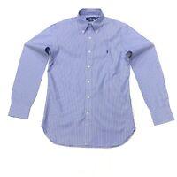 Ralph Lauren Men's Slim Fit Striped Shirt In Blue/White Size 15 32/33
