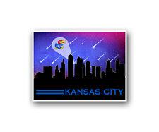 "Kansas Jayhawks Poster City Skyline Art Print Man Cave Decor 12x16"""
